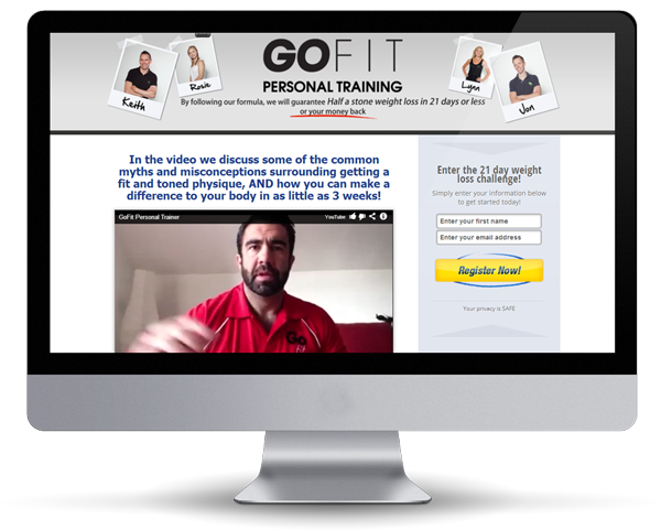 InFitness - Fitness Website Design