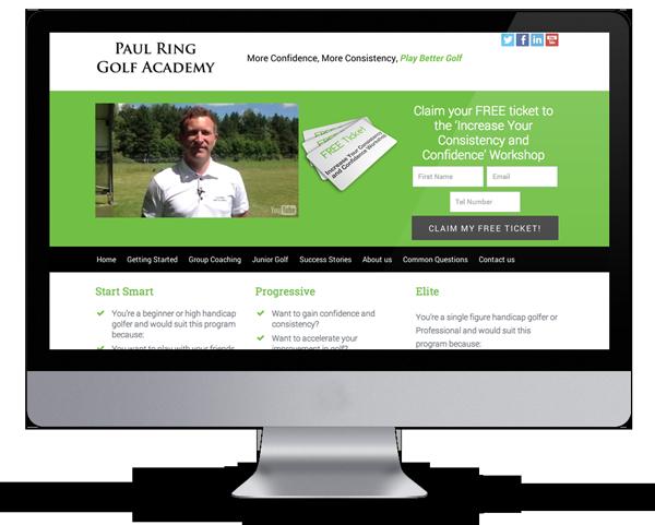 Paul Ring Golf - Fitness Website Design